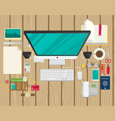 Art creative office workplace vector