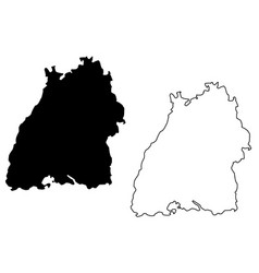 baden-wurttemberg map vector image