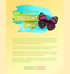 Best spring discount 30 off label butterfly vector