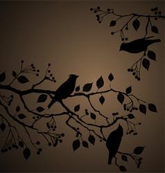 Bird background vector