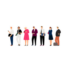 business characters waiting line vector image