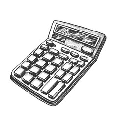 Calculator stationery equipment monochrome vector