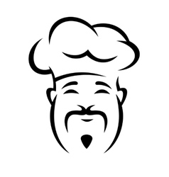 Cheerful chinese chef with a moustache vector