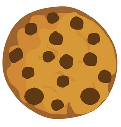 Chocolte chip cookie vector