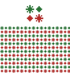 Christmas geometric pattern swatch vector image