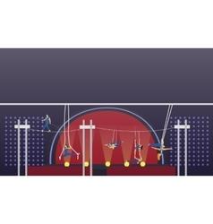 Circus interior concept banner Acrobats vector image