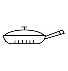 Closed pan icon outline style vector