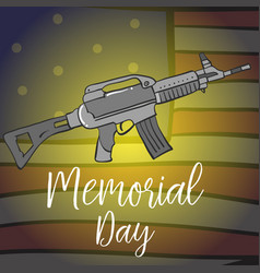 Collection stock memorial day design vector