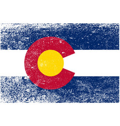 Colorado state flag grunge vector