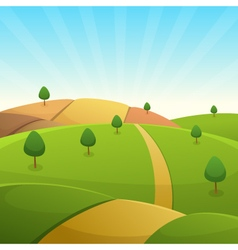 Countryside Cartoon Landscape vector