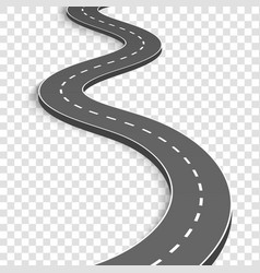 creative of winding curved vector image