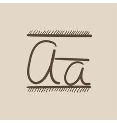 Cursive letter a sketch icon vector