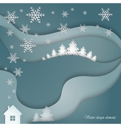 Decorative winter landscape vector image vector image