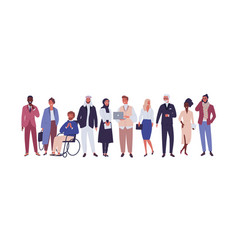 diverse group of business people entrepreneurs or vector image