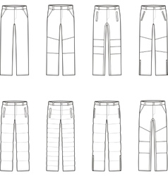 Down pants vector
