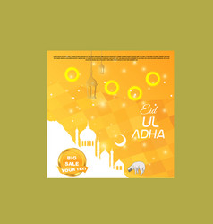 eid ul adha big sale social media post vector image