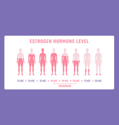 Estrogen menopause hormone woman level female vector