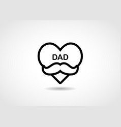 fathers day line icon vector image