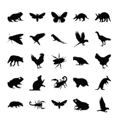 Filled animals vector