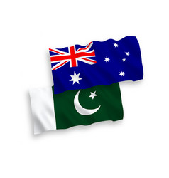 Flags australia and pakistan on a white vector