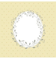 Flowers frame background vector