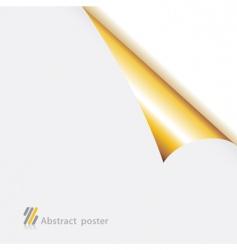 Folded edge paper vector