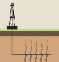 Fracking diagram vector