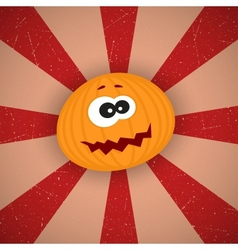 Funny Cartoon Pumpkin vector image