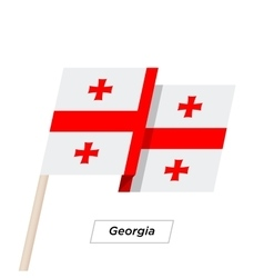 Georgia Ribbon Waving Flag Isolated on White vector
