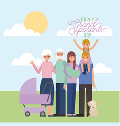 Grandparenst day card vector
