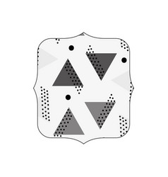 Grayscale quadrate with memphis graphic abstract vector