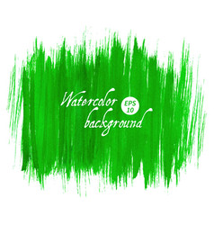 Green abstract hand drawn watercolor vector