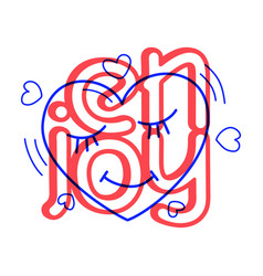 hand draw love heart icon in doodle style for vector image