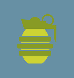 hand grenade - a cartoon of a military hand vector image