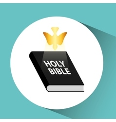 holy bible with holy bible design icon vector image