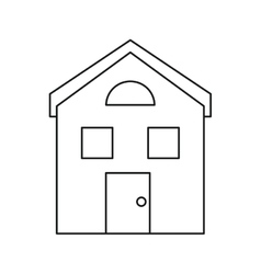 house structure window style outline vector image