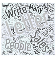 How to write a winning sales letter Word Cloud vector