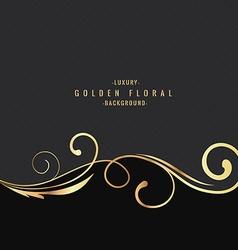 Luxury golden floral background vector image