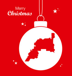 Merry christmas theme with map of henderson nevada vector