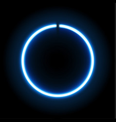 neon blue circle lamp sign vector image