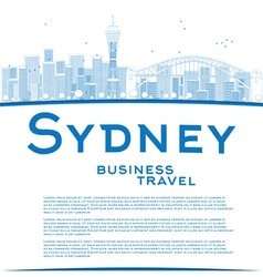 Outline Sydney City skyline vector