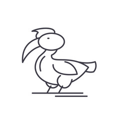 pelican line icon concept pelican linear vector image