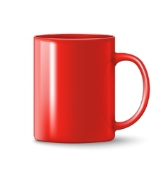 photorealistic red cup vector image