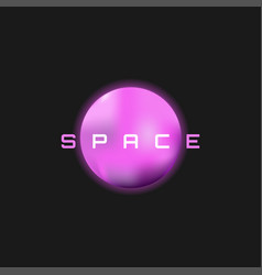 planet logo space poster and a template vector image
