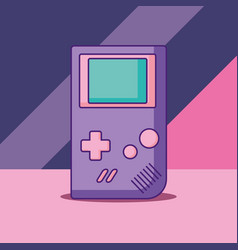 Portable videogame design vector