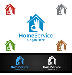 right real estate and fix home repair services vector image
