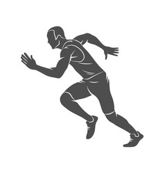 running sprinter athlete vector image