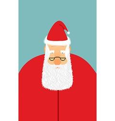 Santa claus is watching you christmas santa with vector