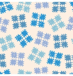 seamless design with abstract snowflakes vector image