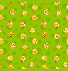 seamless pattern with funny round yellow comic vector image